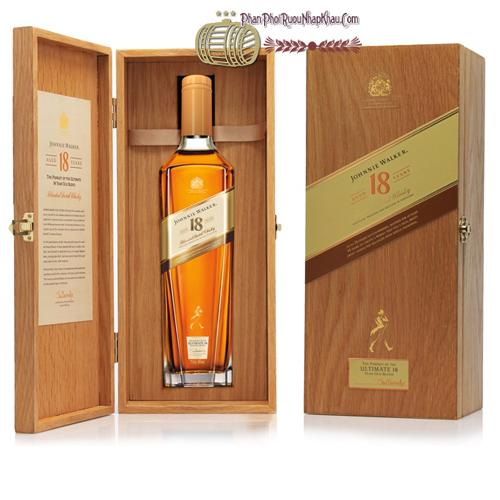 Rượu Johnnie Walker 18 Hộp gỗ