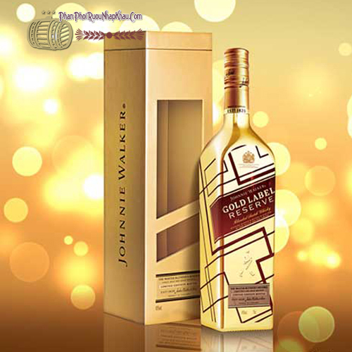 Rượu Johnnie Walker Gold Label Reserve Limited Edition - Chai vàng IBC