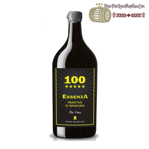 Rượu vang 100 Essenza Primitivo di Manduria 2012 3lít - phanphoiruounhapkhau.com
