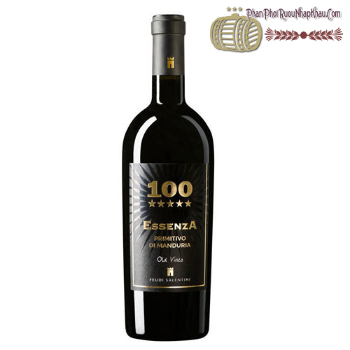 Rượu vang 100 Essenza Primitivo di Manduria 2012 - phanphoiruounhapkhau.com