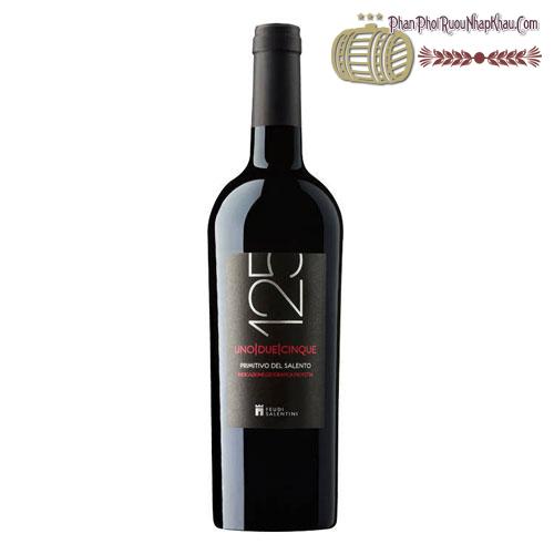 Rượu vang 125 Primitivo Del Salento 2013 - phanphoiruounhapkhau.com