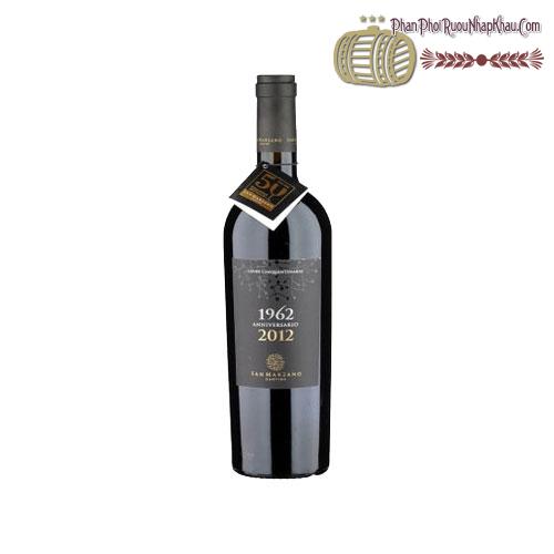 Rượu vang 1962-2012 Anniversario San Marzano Cantine - phanphoiruounhapkhau.com