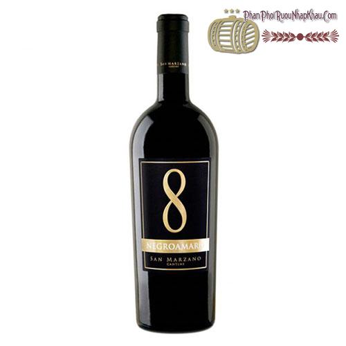 Rượu vang 8 Negroamaro San Marzano Cantine - phanphoiruounhapkhau.com