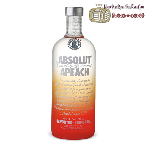 Rượu Absolut Apeach 750ml - phanphoiruounhapkhau.com