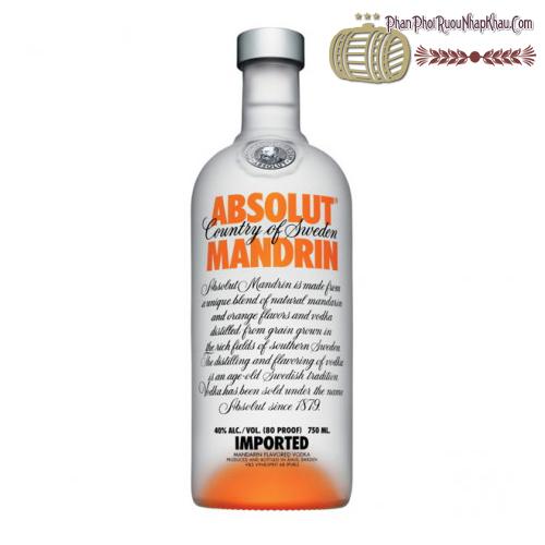 Rượu Absolut Mandrin 750ml - phanphoiruounhapkhau.com