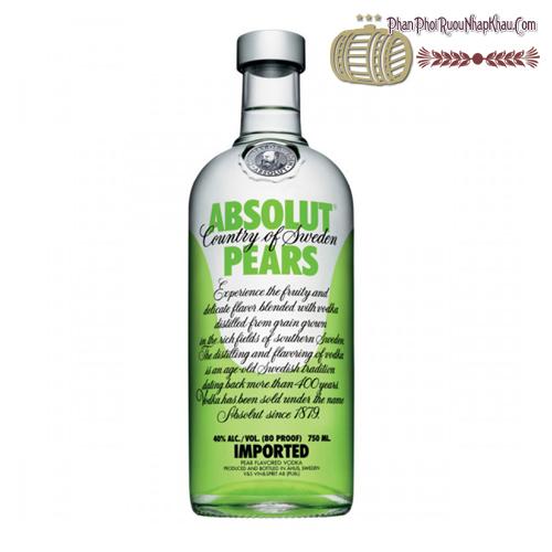 Rượu Absolut Pears 750ml - phanphoiruounhapkhau.com