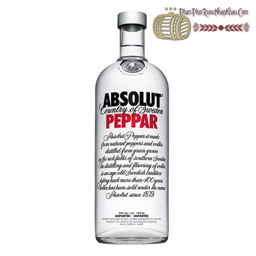 Rượu Absolut Peppar 750ml - phanphoiruounhapkhau.com