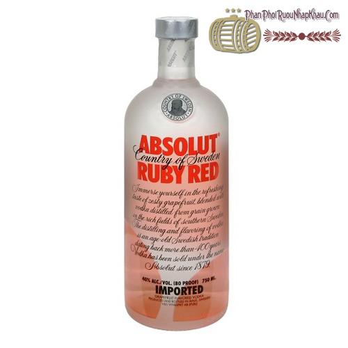 Rượu Absolut Ruby Red 750ml - phanphoiruounhapkhau.com