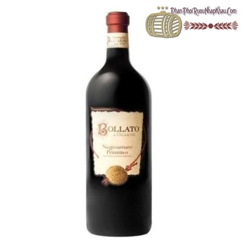 Rượu vang Bollato Negroamaro Primitivo IGP Puglia 2014 - phanphoiruounhapkhau.com