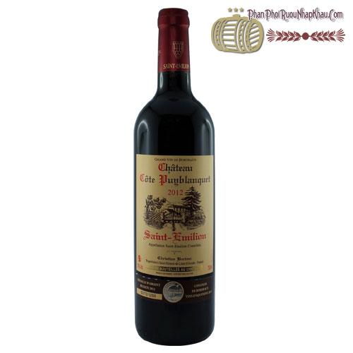 Rượu vang Château 2014 Côte Puy blanquet - phanphoiruounhapkhau.com