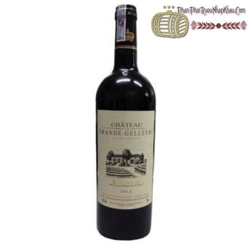 Rượu vang Château La Grande Gelleyre 2012 - phanphoiruounhapkhau.com