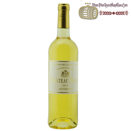 Rượu vang Château Suau Sauternes Grand Cru Classé 2014