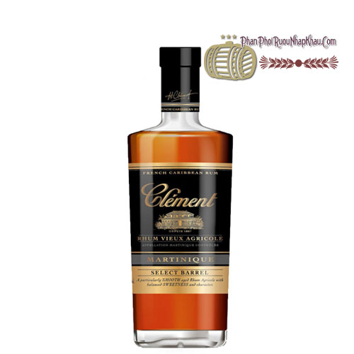 Rượu Clement Rhum Vieux - Select Barrel [PE] - phanphoiruounhapkhau.com