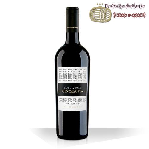 Rượu vang Collezione Cinquanta - phanphoiruounhapkhau.com