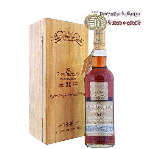 Rượu Glendronach Single Malt 21 năm hộp gỗ sồi [VA] - phanphoiruounhapkhau.com