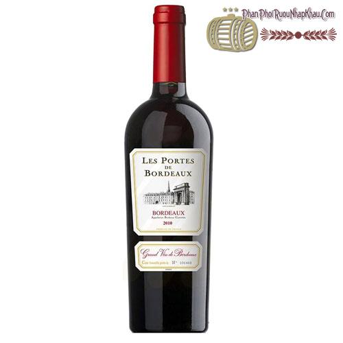 Rượu vang Les Portes de Bordeaux 2015 - phanphoiruounhapkhau.com