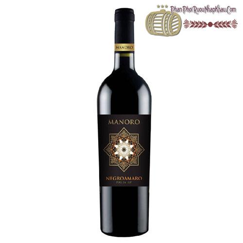 Rượu vang Manoro Negroamaro San Marzano Cantine - phanphoiruounhapkhau.com