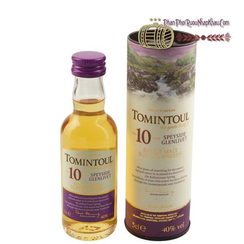 Rượu Miniature Tomintoul 10 năm 50ml [VA] - phanphoiruounhapkhau.com