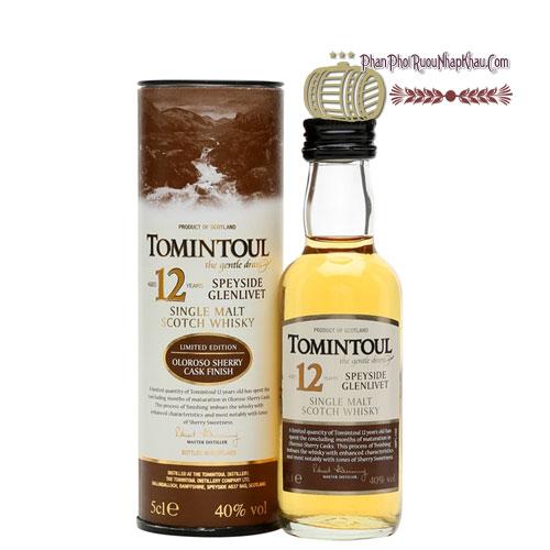 Rượu Miniature Tomintoul 12 năm Oloroso Shery Cask 50ml [VA] - phanphoiruounhapkhau.com