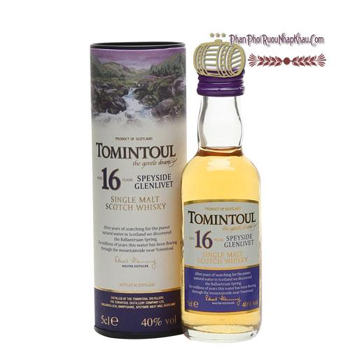 Rượu Miniature Tomintoul 16 năm 50ml [VA] - phanphoiruounhapkhau.com