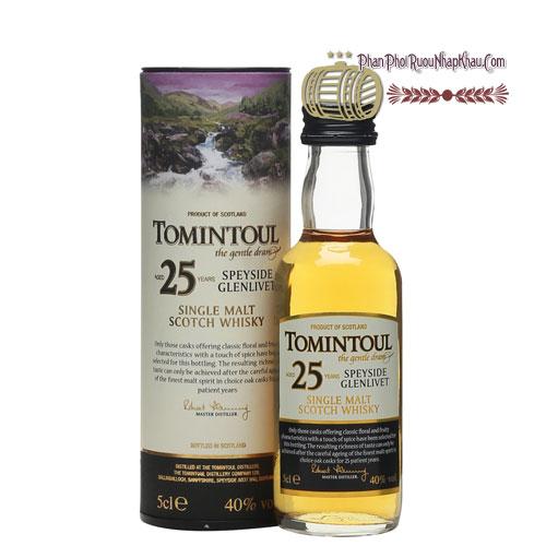 Rượu Miniature Tomintoul 25 năm 50ml [VA] - phanphoiruounhapkhau.com