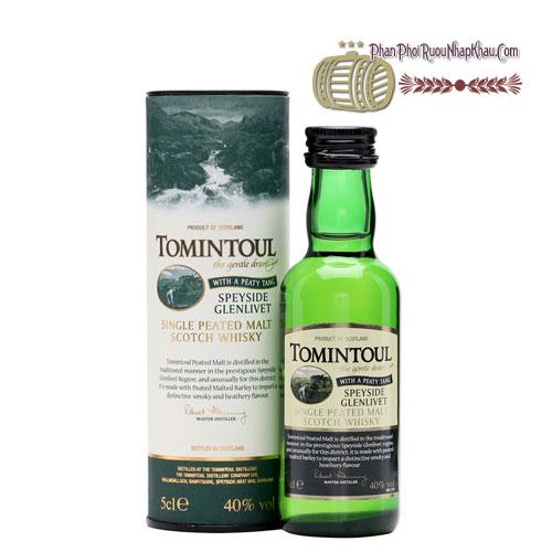 Rượu Miniature Tomintoul Peaty Tang 50ml [VA] - phanphoiruounhapkhau.com