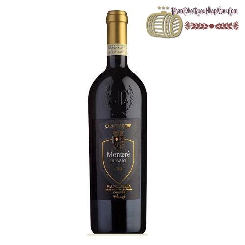 Rượu vang Monterè Ripasso 2012 Valpolicella Superiore - phanphoiruounhapkhau.com