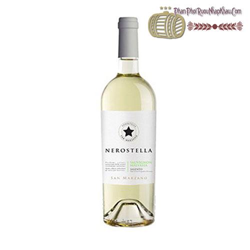 Rượu vang Nerostella Sauvignon Malvasia San Marzano Cantine - phanphoiruounhapkhau.com