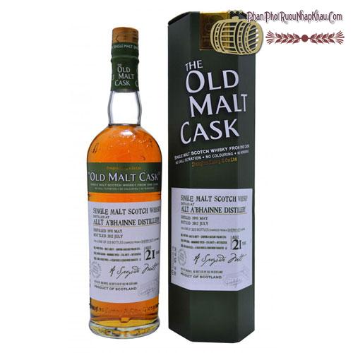Rượu Whisky Old Malt Cask Allt A'Bhainne 21 năm 1991 - phanphoiruounhapkhau.com