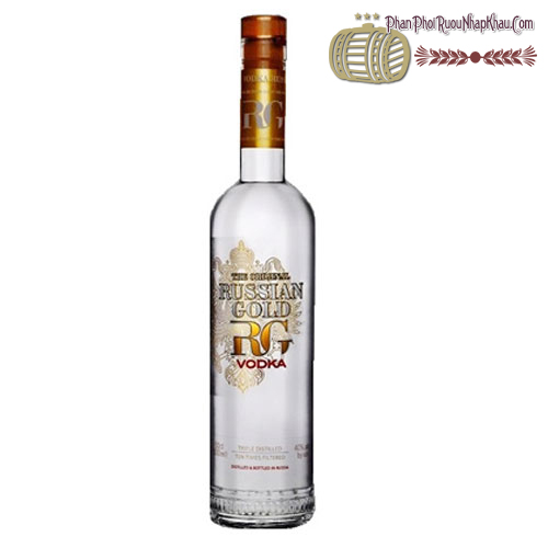 Rượu Vodka Russian Gold 750ml - phanphoiruounhapkhau.com