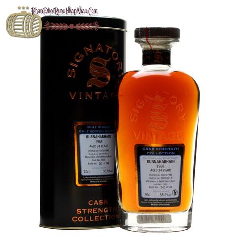 Rượu Whisky Signator Bunnahabhain 24Y 1988 - phanphoiruounhapkhau.com