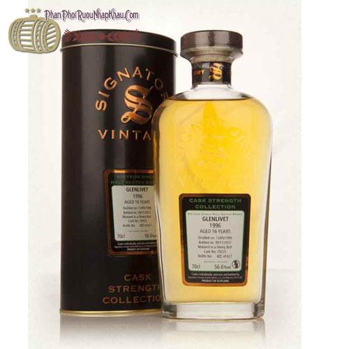 Rượu Whisky Signatory Glenlivet Cask STR 1996