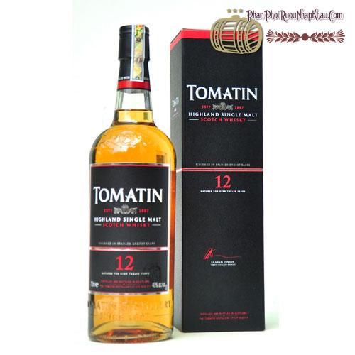 Rượu Whisky Tomatin 12 năm - phanphoiruounhapkhau.com