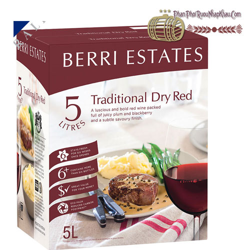 Rượu Vang Berri Estates Traditional Dry Red