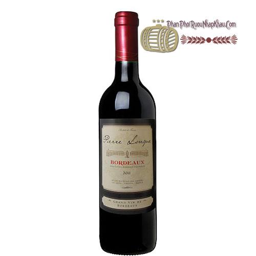Rượu vang Bordeaux De Pierre Longue [PE] - phanphoiruounhapkhau.com