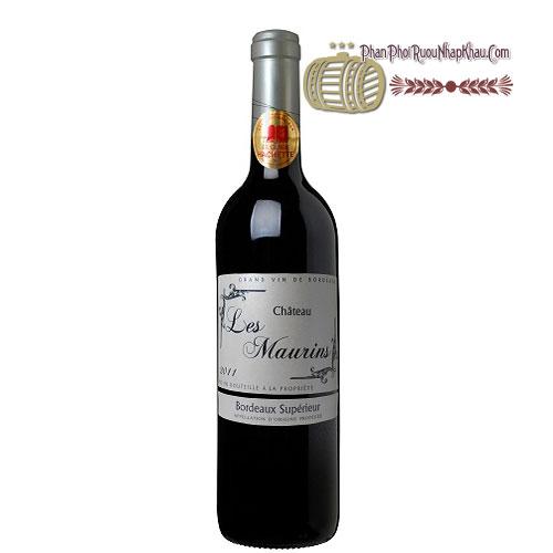 Rượu vang Bordeaux Superieur Les Maurins [PE] - phanphoiruounhapkhau.com