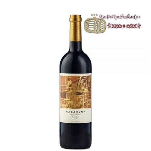 Rượu vang Casarena Reservado Malbec [BM] - phanphoiruounhapkhau.com