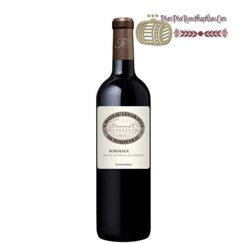 Rượu vang Chateau Les Graves De Pompeyrat [PE] - phanphoiruounhapkhau.com