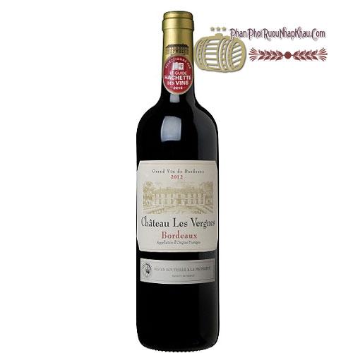 Rượu vang Chateau Les Vergnes [PE] - phanphoiruounhapkhau.com