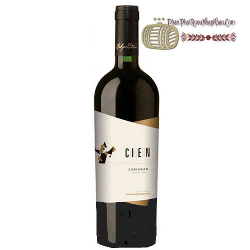 Rượu vang Cien 100 – Carignan [PE]