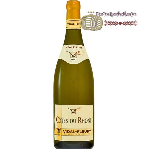 Rượu Vang Côtes Du Rhône Blanc By Vidal Fleury