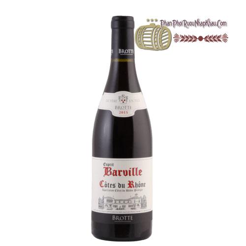 Rượu vang Cotes Du Rhone Esprit Barville [PE] - phanphoiruounhapkhau.com