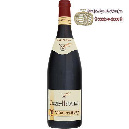 Rượu Vang Crozes-Hermitage Rouge by Vidal-Fleury [HT]