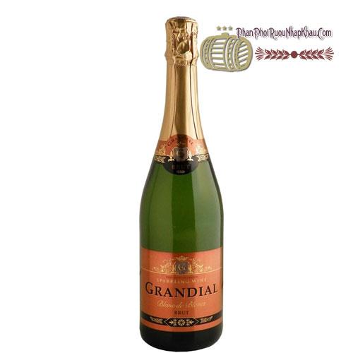 Rượu vang Grandial Sparkling Brut 180ml [VA] - phanphoiruounhapkhau.com