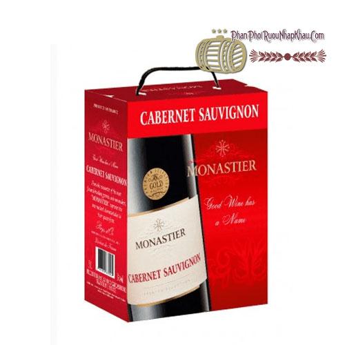 Rượu vang Monastier Cabernet Sauvignon BIB 3 Lít [VA] - phanphoiruounhapkhau.com