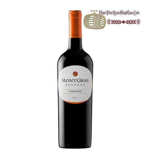 Rượu vang MontGras Reserva - Carmenere [PE] - phanphoiruounhapkhau.com