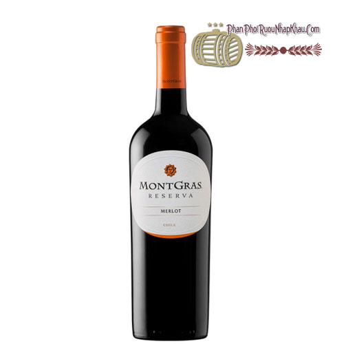 Rượu vang MontGras Reserva - Merlot [PE] - phanphoiruounhapkhau.com