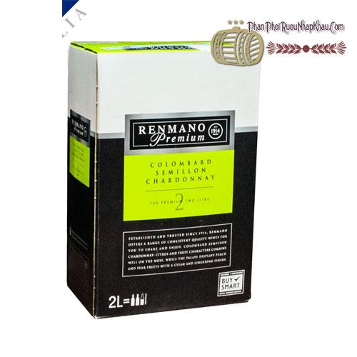 Rượu Vang Renmano Premium Chardonnay 2 Lít