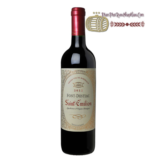 Rượu vang Saint Emilion Font Destiac [PE] - phanphoiruounhapkhau.com