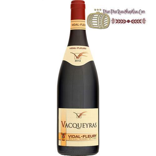 Rượu Vang Vacqueyras Rouge by Vidal-Fleury [HT]